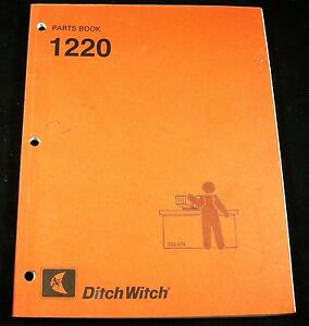 Ditch Witch 1220 Trencher Parts Manual Book Catalog Oem