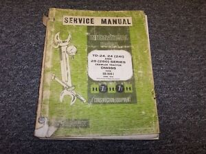 International Harvester Ih Td24 24 Series Crawler Chassis Service Repair Manual