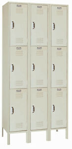 Lyon Standard Steel Gym School Athletic Industrial Metal Lockers 3 High 5283 3