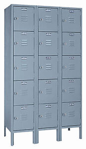 Lyon Standard Steel Gym School Athletic Industrial Metal Lockers 5 High 5312 3
