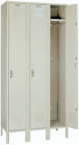 Lyon Standard Steel Gym School Athletic Industrial Metal Lockers One Tier 5032 3