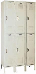 Lyon Standard Steel Gym School Athletic Industrial Metal Lockers 2 High 5212 3