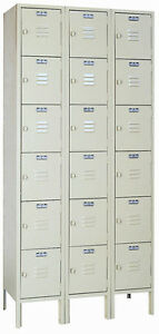 Lyon Standard Steel Gym School Athletic Industrial Metal Lockers 6 High 5342 3