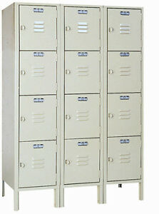 Lyon Standard Steel Gym School Athletic Industrial Metal Lockers 4 High 5352 3