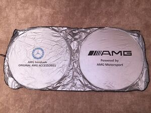 Sun Shade Windshield Foldable Cover Visor Heat Isolate For Amg Mercedes Benz