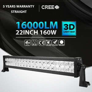 22 inch 160w Led Work Light Bar Flood Spot Offroad Suv Atv Boat Driving 23 24