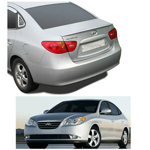 New Rear Trunk Wing Lip Space Spoiler For Hyundai 2007 2010 Elantra Black