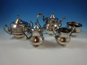 Antique Silverplate Tea And Coffee Set 5 Five Piece By Reed Barton