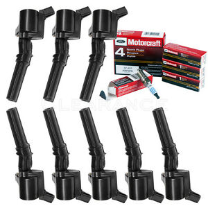 Set Of 8 Ignition Coils For Ford Lincoln Dg508 8 Motorcraft Spark Plugs Sp493