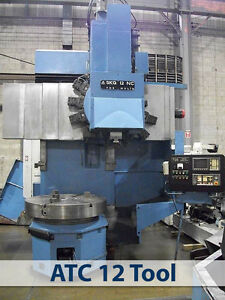 Cnc Vertical Boring Mill Tos Fanuc 0t c 12 Pos Atc 49 3 jaw Chuck 59 Swing