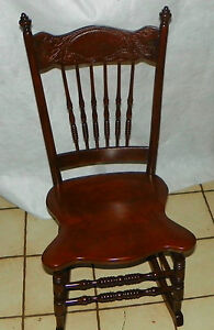Solid Cherry Carved Sewing Rocker Rocking Chair Bm R233