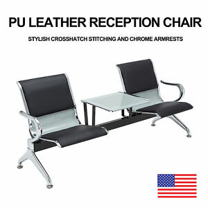 Heavy Duty Office Area Airport Reception Waiting Room Chair W Table Bench 3seat