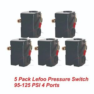 5 Pack Replacement Air Compressor Pressure Control Switch Valve L4 4port 95 125