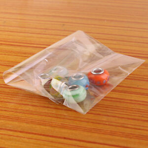 100 500pc Lots Clear Self Adhesive Seal Plastic Bags Opp Charms Jewelery Diy