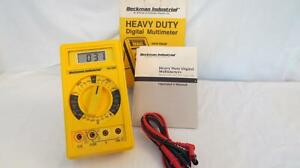 Beckman Hd130b True Rms 3 1 2 Digit Multimeter Lcd Display With Leads