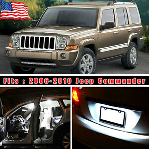 14pcs Super White Led Lights Interior Package Kit For Jeep Commander 2006 2010