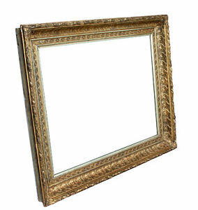 Large Antique Gold Gilt Picture Frame 18 1 2 X 24 1 2 Rabbet Size