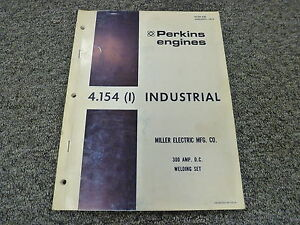 Perkins 4 154 Industrial Engine Parts Catalog Manual Book