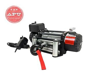 T max 12500 Lbs Winch 12v Heavy Duty With Remote Control Steel Cable