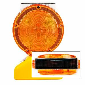 set Of 12 Solar Rechargeable Traffic Construction Barricade Led blight st