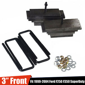 3 Front Leveling Lift Kit Fit 1999 2005 Ford F250 Superduty 4x4 Black