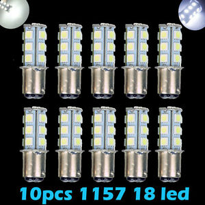 10x Super White T25 S25 1157 Bay15d 18 Smd 5050 Led Tail Brake Stop Light Bulb