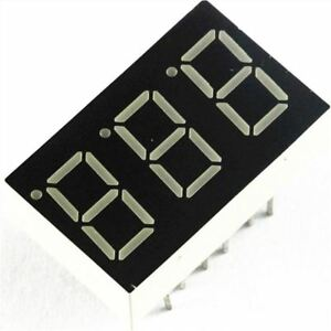 50pcs 0 36 Inch 3 Digit 7 Seg Segment Common Anode Led Display Red Hk