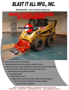 Workhorse Skid Steer Floor Scraper Attachment