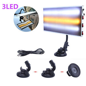 New Tool Led Light Paintless Dent Repair Hail Removal 3 Strips Car Body Lamp