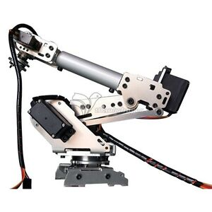 6 axis Industrial Mechanical Robot Arm Model Aluminum Manipulator Diy Only Frame
