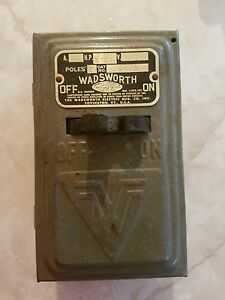 Wadsworth Vintage 2 Fuse 30 Amp Electrical Box Industrial Decor