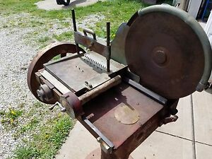 Vintage The Computing Scale Co Meat Slicer With Pedestal Dayton Ohio