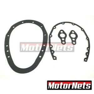 Sbc Timing Chain Cover Gasket 2 Piece Fits Small Block Chevy 283 305 350 400