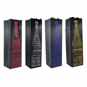 Kraft Paper With Handle Packaging Bag Merchandise Pouch For Wine Packing