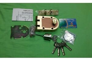 Maxtech Deadbolt With High Security Cylinder With 5 Keys solid Brass