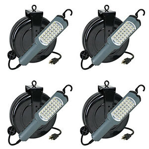 Case Of 4 Repair Trouble Work Light Led 450 Lumen Retractable Cord Reel 5030as