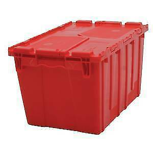 Red Plastic Storage Bins 91443