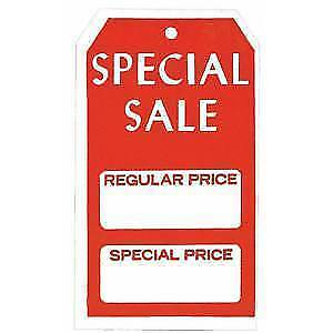 Special Sale Price Tags reg special Case Of 1000 87976