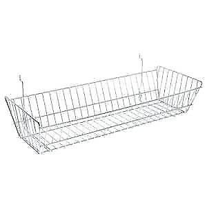 Pegboard Hanging Wire Basket Chrome 24 X 10 X 5 80595