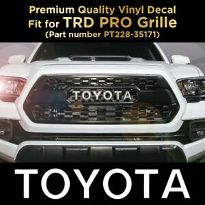 Toyota Trd Pro Grille Logo Decal 2016 2017 2018 Tacoma Grill Sticker Letters