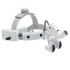 Dental Binocular Loupes Surgical Glass Magnifier Led Headlight 3 5x 280 380mm
