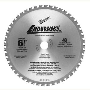 Milwaukee 48 40 4015 6 1 2 X 48 Carbide Tooth Ferrous Metal Cutting Circular S