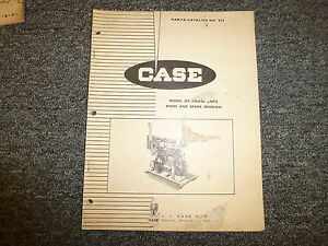 Case Model 188 Engine Power Units Diesel Spark Ignition Parts Catalog Manual