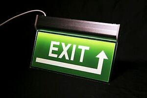 Double sided Acrylic Exit Sign Led Edge lit Emergency Signage