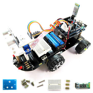 Electronic Products For Arduino M99g Bluetooth Line Track Smart Car Robot Kit