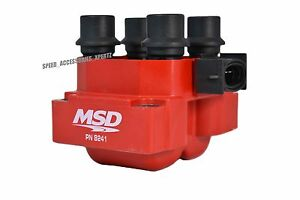 Red Msd Ignition External Blaster Racing High Output Coil 8241