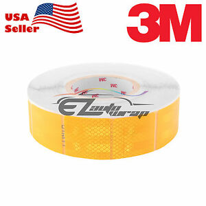 3m Diamond Grade Golden Yellow Conspicuity Tape 2 X 2 Ce Approved Reflective