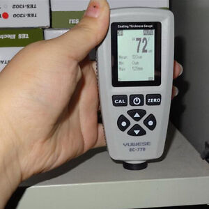 Digital Paint Coating Thickness Tester Meter Range 0 51 18mils Probe Gauge Usa
