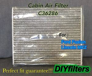C36286 Premium Carbon Cabin Air Filter For 2013 2019 Ford Fusion Lincoln Mkz