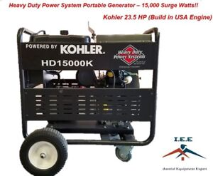 15000 Watt Generator Heavy Duty Kohler 23 5hp Made Is Us Engine Electric Start
